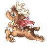 Jingle Bell Rudolf   per stuk