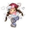 In the snow heart Tilda Mini   per stuk
