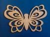 Vlinder met opengewerkte vleugels groot   per stuk