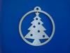 Ornament Kerstboom 9cm (3mm dik)