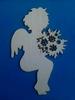 Cupido met bloemen