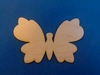 Vlinder met dichte vleugels 10 cm