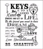Script Key Background   per stuk