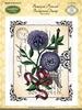 Botanical Postcard Background Stamp