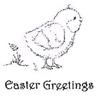 Chirpy Chick + Easter Greetings (tekst)   per set