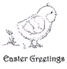 Chirpy Chick + Easter Greetings (tekst)