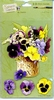 3-D stickers: Pansy Bouquet   per vel