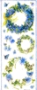 Big Sticker: Blue Wreaths / Blauwe Kransen