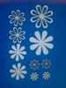 Assortiment bloemen 10 stuks. 6-4-2,5 cm 1,5 mm dik   per set