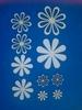 Assortiment bloemen 10 stuks. 6-4-2,5 cm 1,5 mm dik