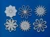 Assortiment bloemen en sterren 6 stuks. Doorsnede 6 cm 1,5 m
