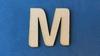 Letter M 4 cm. en 1,5 mm. dik