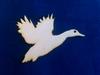 Eend vliegend 6,5 cm hoog en 10 cm breed (3mm dik) 3 stuks