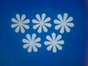 Bloemen dicht 5 stuks. Doorsnede 6 cm. 1,5 mm dik