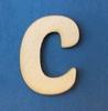 Letter C 4 cm. en 1,5 mm. dik    per stuk