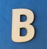 Letter B 4 cm. en 1,5 mm. dik