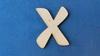 Letter X 4 cm en 1,5 mm dik    per stuk