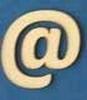 Letter @ 4 cm. en 1,5 mm. dik