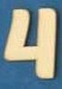 Cijfer 4  4 cm. en 1,5 mm. dik