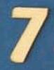 Cijfer 7  4 cm. en 1,5 mm. dik