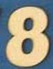 Cijfer 8  4 cm. en 1,5 mm. dik