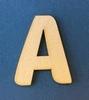 Letter A 2 cm. en 1,5 mm. dik