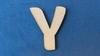 Letter Y 2 cm. en 1,5 mm. dik    per stuk