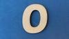 Letter O 2 cm. en 1,5 mm. dik