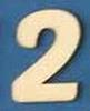 Cijfer 2, 2 cm. en 1,5 mm. dik