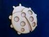 Lieveheersbeestje 2 lagen 10 x 10 cm. 3mm dik   per stuk