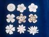 Assortiment bloemen 9 stuks. ca. 5 cm 1,5 mm dik chipboard
