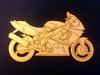Motor 9 x 15 cm 3mm dik Houtboard