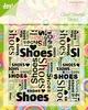 Shoes tekst achtergrond stempel   per vel