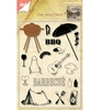 Barbeque stempel set + stans