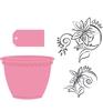 Flowerpot stempels + stansen set   per set