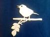 Vogel op tak 15 x 15 cm 3mm dik   per stuk