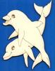 Dolfijnen 12 x 8,5 cm 3 mm dik houtboard   setje van 3