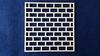 Achtergrond vierkant met baksteen motief 10 x 10 cm