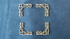 Hoeken sierlijk nr.2. 3,3 x 3,3 cm 1,5mm dik chipboard   setje van 4