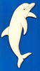 Dolfijn 12,5 x 5,5 cm 3 mm dik (van links)