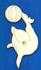 Dolfijn met bal 12,5 x 5,5 cm. 3mm dik (van rechts)
