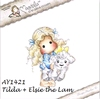 Tilda with Elsie the Lamb   per stuk