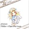 Tilda with Elsie the Lamb