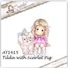 Tilda with Scarlet the Pig