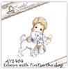 Edwin with Tin Tin the dog   per stuk