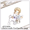 Edwin with Tin Tin the dog