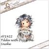 Tilda with Fizzy the Snake   per stuk