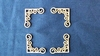 Hoeken sierlijk nr.1. 3,3 x 3,3 cm 1,5mm dik chipboard   setje van 4