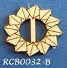 Bewerkte lint gespje  type B ca. 2cm 1,5mm dik van chipboard   per stuk