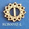 Bewerkte lint gespje  type L ca. 2cm 1,5mm dik van chipboard   per stuk